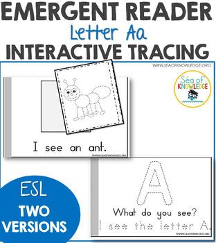 Alphabet Letter Aa Interactive Emergent Reader ESL