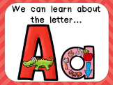 Alphabet Letter Aa PowerPoint Presentation- Letter ID, Sounds, and Handwriting