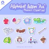 Alphabet Letter Aa phonics clip art