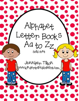 Alphabet Letter Aa to Zz Books-solid font
