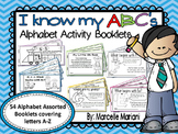 Alphabet Letter Activity Booklets (54 Alphabet BookS)