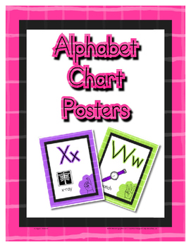 Alphabet / Letter Anchor Wall Chart Posters ~ Printables for Preschool / Daycare