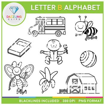 Alphabet Letter B Clip Art - Beginning Sounds