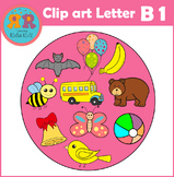 Alphabet Letter B Clip Art set 1