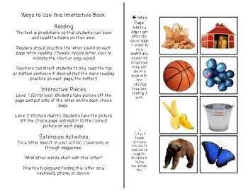 Alphabet - Letter B - REAL PICTURE Adapted Book