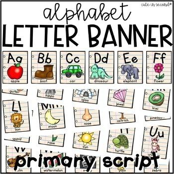 Alphabet Letter Banner Primary Font