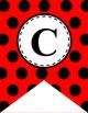 Alphabet Letter Banner (Red and Black Polka Dot)