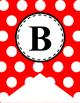 Alphabet Letter Banner (Red and White Polka Dot)