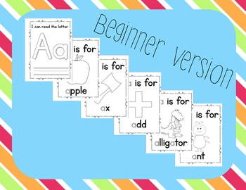 Alphabet Letter Books A-Z BUNDLE: a focus on initial sounds