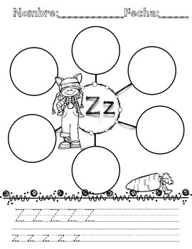 Alphabet Letter Bubble Maps In Spanish