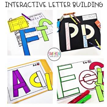 Alphabet Letter Building Mats Activities | Preschool, PreK, Kindergarten