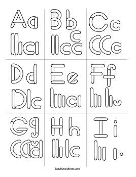 Alphabet Letter Building Puzzles