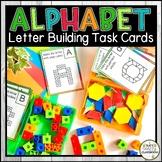 Alphabet Letter Building Task Cards - Letter Formation Activity