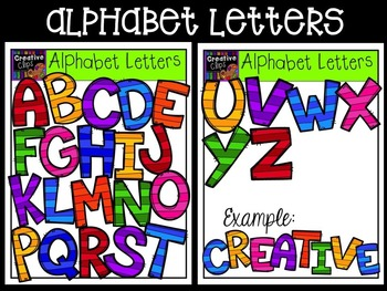 Alphabet Letter Bundle {Creative Clips Digital Clipart}
