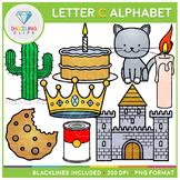 Alphabet Letter C Clip Art - Beginning Sounds