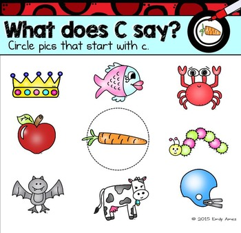 Alphabet -- Letter C SMARTboard Activities (Smart Board)