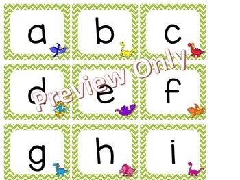 Alphabet Letter Cards ~ Dinosaurs