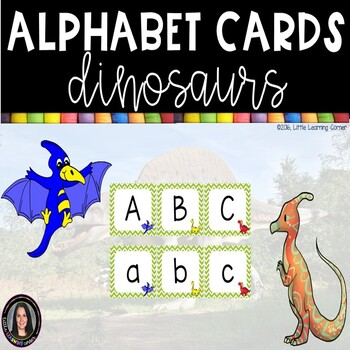 Alphabet Letter Cards ~ Dinosaurs