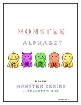 Alphabet Letter Cards - Monster Theme