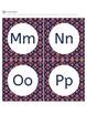 Alphabet Letter Cards Navy And Orange Polka Dots