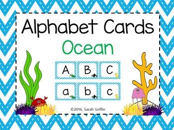 Alphabet Letter Cards ~ Ocean