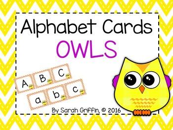 Alphabet Letter Cards ~ Owls
