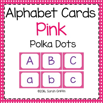 Alphabet Letter Cards ~ Pink ~  Capital and lowercase