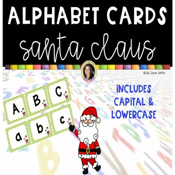 Alphabet Letter Cards ~ Santa Claus ~  Capital and lowercase