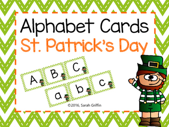 Alphabet Letter Cards ~ St. Patrick's Day ~ Flashcards