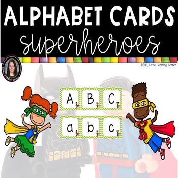 Alphabet Letter Cards ~ Superhero