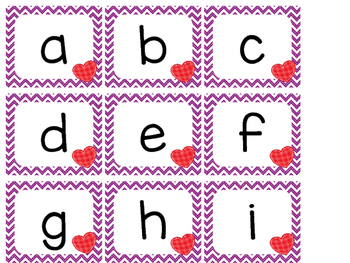 Alphabet Letter Cards ~ Valentines Day
