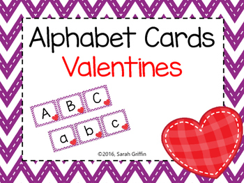 Alphabet Letter Cards ~ Valentines Day