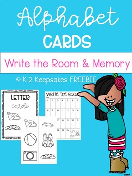 Alphabet Letter Cards for Memory & Write the Room FREEBIE