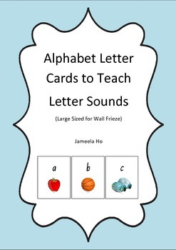 Alphabet Letter Cards to Teach Letter Sounds