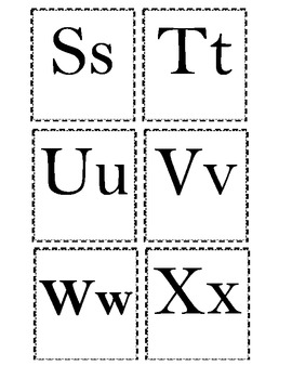 Alphabet Letter Cards upper and lower case Letter on each card