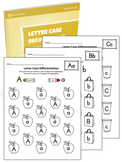 Alphabet Letter Case Recognition Worksheet Set