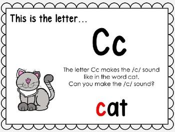 Alphabet Letter Cc Interactive Power Point. Kindergarten