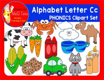 Alphabet Letter Cc Phonics Clipart Set