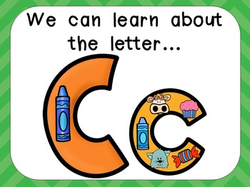 Alphabet Letter Cc PowerPoint Presentation- Letter ID, Sounds, and Handwriting