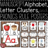 Alphabet, Letter Cluster, and Phonics Rule Posters in Manu