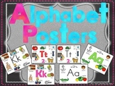 Alphabet & Letter Colorful Anchor Charts Aa to Zz