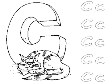Alphabet Letter Coloring Page with Letter Practice