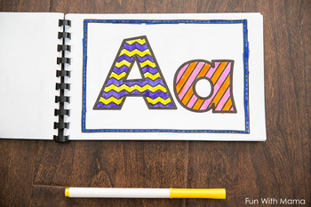 Alphabet Letter Coloring Pages Book