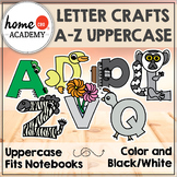 Letter Crafts - Uppercase (No Prep, Black White and Color)