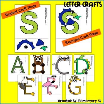 Alphabet Letter Crafts (A-Z Upper Case)