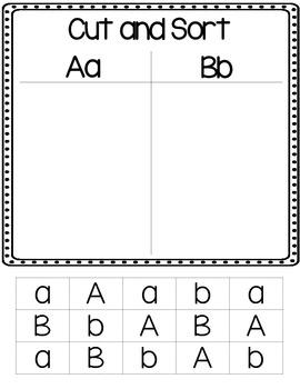 Alphabet Letter Cut and Sort