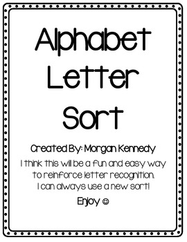 Alphabet Letter Cut and Sort