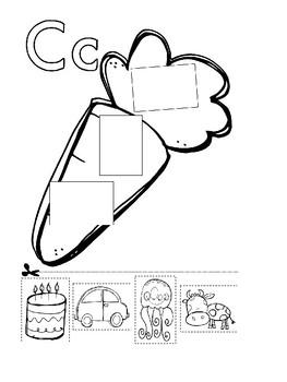 Alphabet Letter Cut and paste