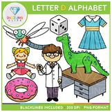 Alphabet Letter D Clip Art - Beginning Sounds