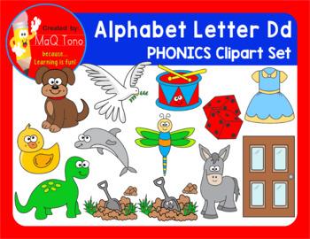 Alphabet Letter Dd Phonics Clipart Set